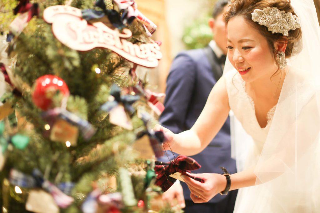 香川県高松市の結婚式場リュバンのパール型ビジューを使用したへアレンジ