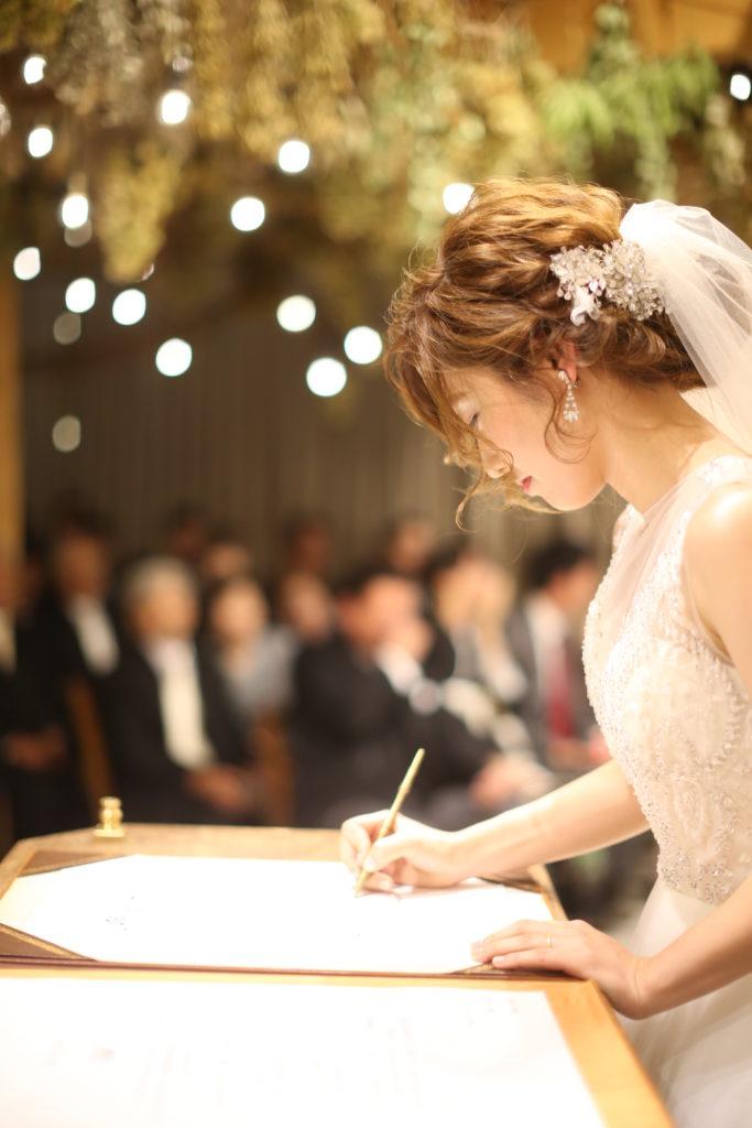 香川県高松市の結婚式場リュバンのビジューを使用したへアレンジ