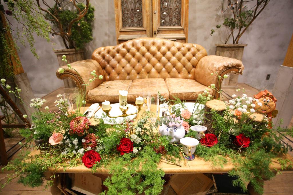 香川県高松市の結婚式場リュバンののメインテーブル